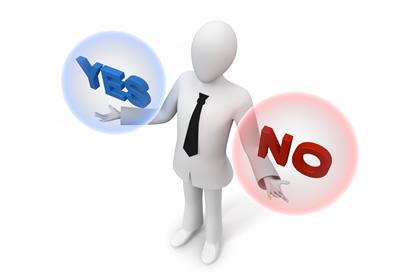 「はい」「いいえ」の画像